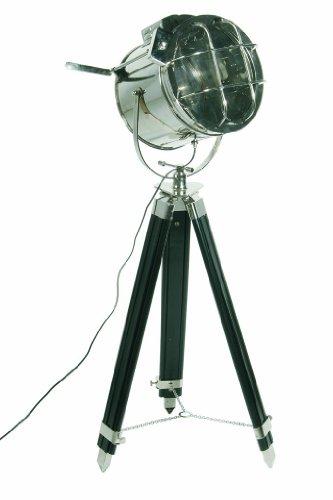 Kare Stehlampe Metropolis Spot Stahl/Sheesham