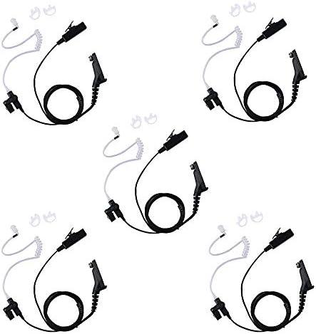 Caroo 2 Wire Surveillance Kit Eeapiece Headset with One Pair Medium Earmolds for Motorola 2 product image
