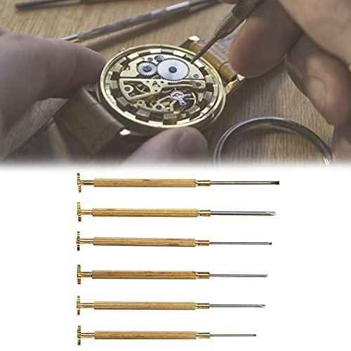 Juego de Destornilladores para Relojes, prácticos Destornilladores para Relojes de Larga duración para el Mantenimiento de Relojes para Trabajos de reparación