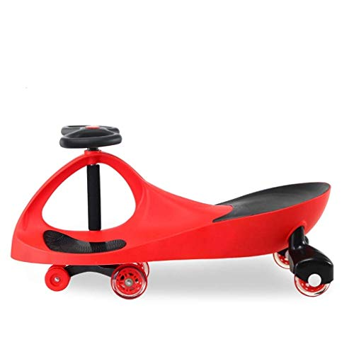 Yui Modelo a Seguir Toy Car, Twist Car For Niños, Toy Swing Wiggle Gyro Giratorio Scooter Fun Gift Rueda For Niños Uso Al Aire Libre En Interiores Rueda Silenciosa Modelo a Seguir (Color : Red