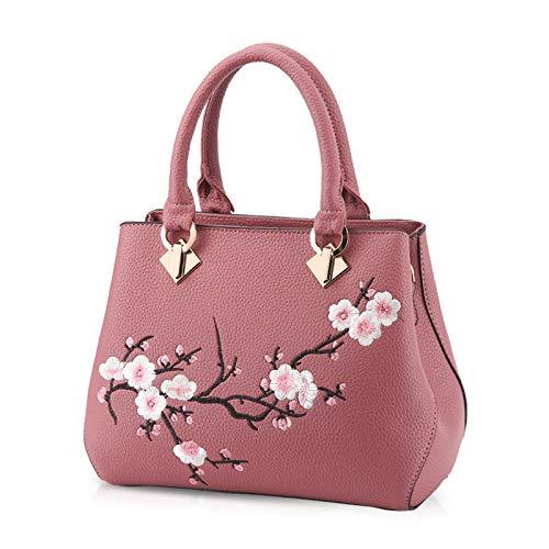 Nicole&Doris Casual Sweet Handbag Women Crossbody Shoulder Bag Purse Tote Commuter PU Leather Pink