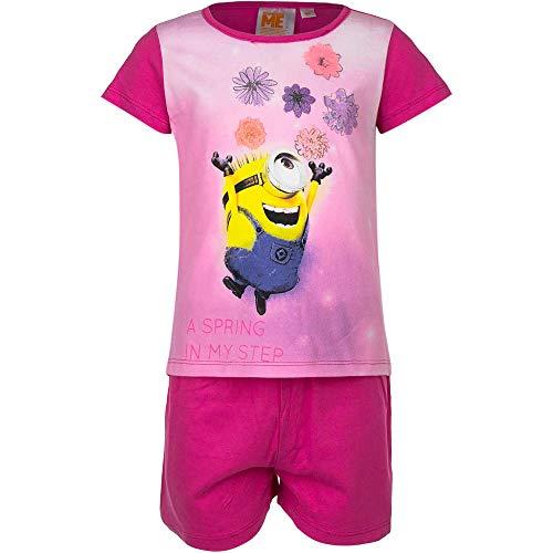 Minions Pijama corto fucsia para niña fucsia 6 años