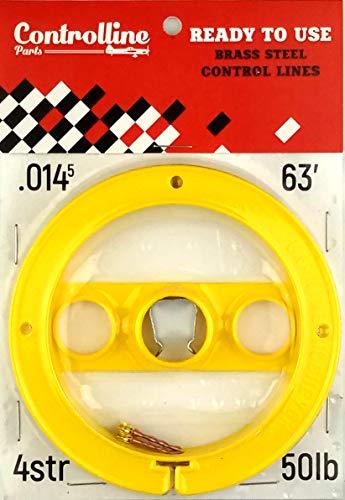 Kit de línea para Aviones de línea de Control (Amarillo, 0,014 x 2 x 63 Pulgadas)