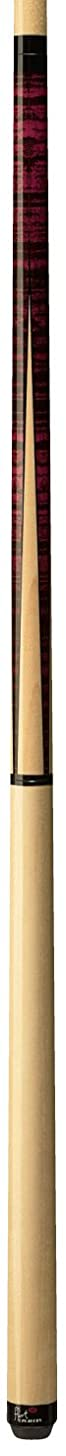 Players Flirt F-2500 Graphic Maple/Fuchsia Tiger-Stripe Four-Point Jump Break Pool Cue