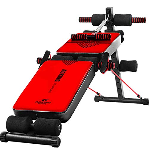 sit-up board Sit Up Bench Fitness Training Panca Pesi Addominale Fitness Crunch Board Completo Body Regolabile Workout Bench per Home Gym Roscloud@