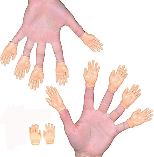 Tiny Hand Finger Puppets (Pack of 12 – 6 Right & 6 Left) – Little Finger Props for Hands – Halloween Hand Prop Accessories – Mini Prank Hand & Gag Gifts for Adults by NextClimb