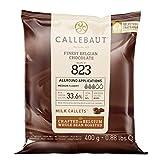 Callebaut N° 823 (33,6%) - Chocolat de Couverture au Lait Belge - Finest Belgian Milk Chocolate (Callets) 400g