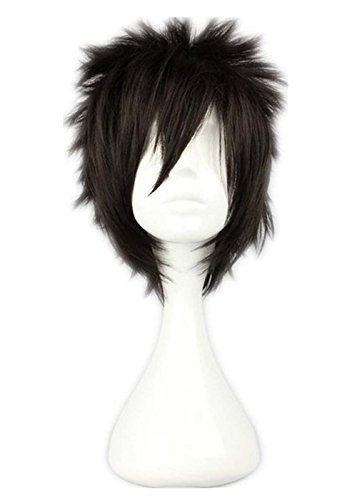 etruke Naruto Noir Court Anime Cheveux Cosplay Perruques
