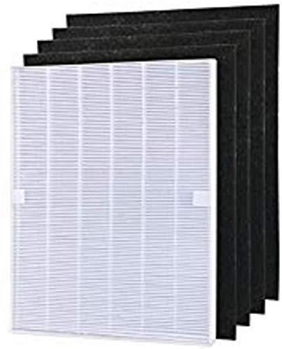 YanBan 4 Piezas de purificador de Aire prefiltros de Carbono y 1 Pieza de Filtro HEPA Principal para Winix 115115 5300 5500 6300