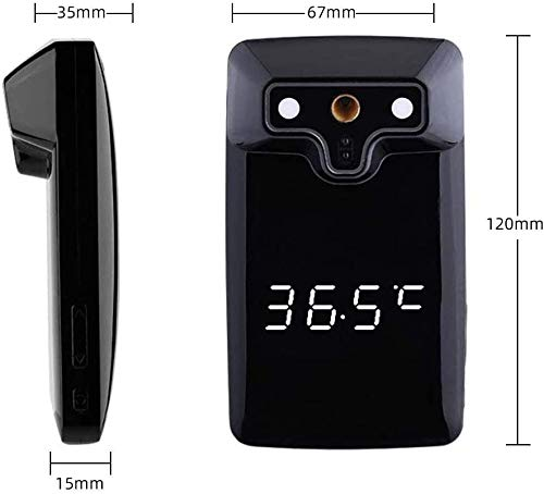 Wall-Mounted Infrared Forehead Thermometer with LCD Display Non-Contact Digital Thermometer for Adults,Fever Alarm for Home, School & Office 6 YOU DON´T HAVE TO DO THE TESTINGS! ? Avoid cross-infection between multiple people during testing, our non-contact digital thermometer can do all the work for you, without even having to touch it! Just mount it on the wall at the desired height and ask your employees to approach the thermometer about 5-10 cm before entering the office and obtain their temperature in 1 second! Non-contact, quick & easy! DISPLAYS ºC AND ºF ? Normal temperature: 36.5 -37.2 ºC ? Fever 38ºC and up. If the temperature exceeds normal limits the non-contact digital thermometer will display a red light and make a sound that will let you know that your employee has a fever, otherwise it will only show a green light and its temperature.The battery is included in the package ADVANCED TECHNOLOGY FOR EXCELLENT PERFORMANCE - Built-in an advanced infrared sensor chip, and with a tested 10,000 operating life. Our non-contact digital thermometer can sense body temperature precisely, is FCC certified. The Forehead thermometer is designed for all ages, adults, infants and elders. The high accuracy precision tolerance is ±0.2(34~45?).