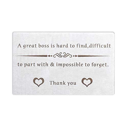 Boss Leaving Away Gift for Coworker Mentor Wallet Insert Card Appreciation Gift for Leader Supervisor Going Away Thank You Retirement Goodbye Farewell Christmas Birthday for Men Women BFF Boss Day