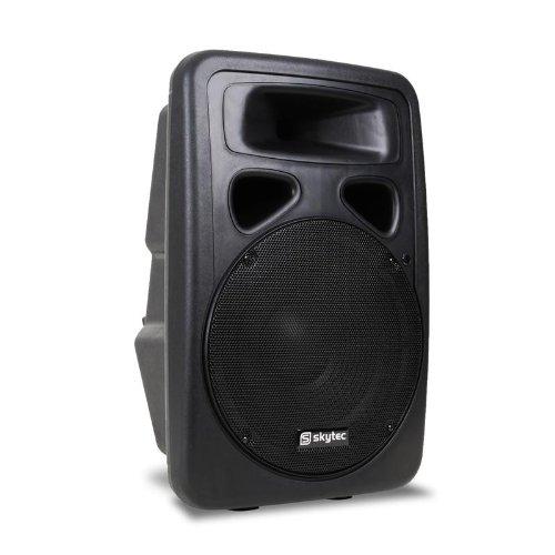 Skytec SP1500ABT Cassa attiva amplificata diffusore DJ PA (400 Estt RMS, ingresso USB MP3, woofer da 38 CM, ingresso microfono)