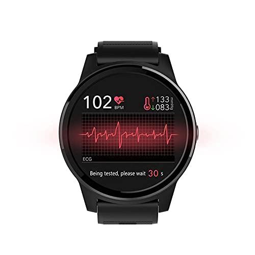 LKM Nuevos Hombres Smart Watch Sport ECG PPG Presión Arterial Monitor de Ritmo cardíaco Pulsera IP67 Relojes Impermeables,B