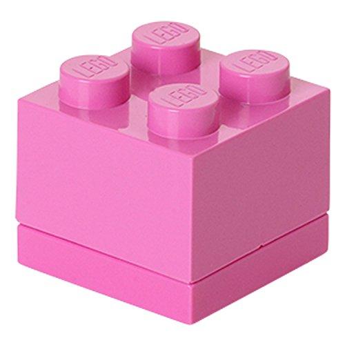 Room Copenhagen- Minicaja de 4 espigas de Lego, Caja para tentempiés, Rosa,...