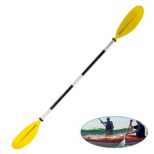 JTWEB Doppelpaddel Kayak Paddle,Paddel Aluminium Sup Doppelpaddel für Kanusport Kajakfahren Kanadier Boot Ruderboot (Gelb)