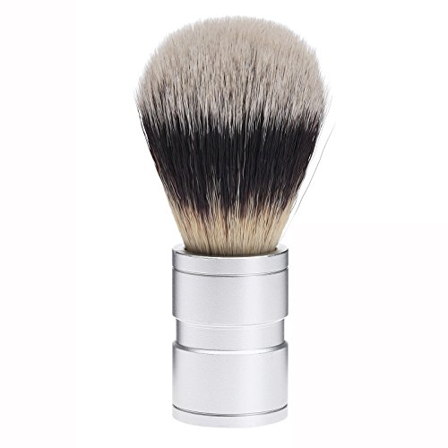 Preisvergleich Produktbild 1Pc Synthetic Dachshaar Silvertip Rasierpinsel mit Komfortgriff Barber-Tool