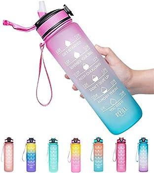 Venture Pal Motivational Fitness Sports Water Bottle, 32oz