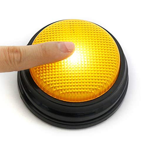 Roeam Buzzer mit Aufnahmefunktion, Aufnahmefähige Sprechtaste mit LED Lernressourcen Antwortsummer Interaktives Spielzeug für Quizspiele