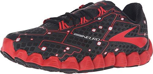 Brooks Neuro schwarze und blaue-Schuhe Running, Schwarz/Rot, 42 EU