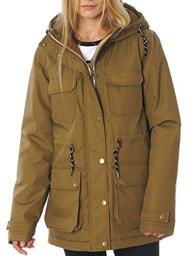 Volcom Damen Winterjacke Venson Jacket, Olive, M, B1531755OLV