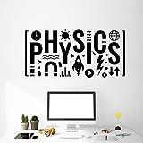 WERWN Calcomanías de Pared de física Letras Escuela Ciencia Laboratorio educación Aula decoración de Interiores Vinilo Pegatinas de Pared Mural Creativo