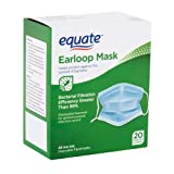 Equate Earloop Disposable Facemasks, 20 Count Each (Pack of 2)