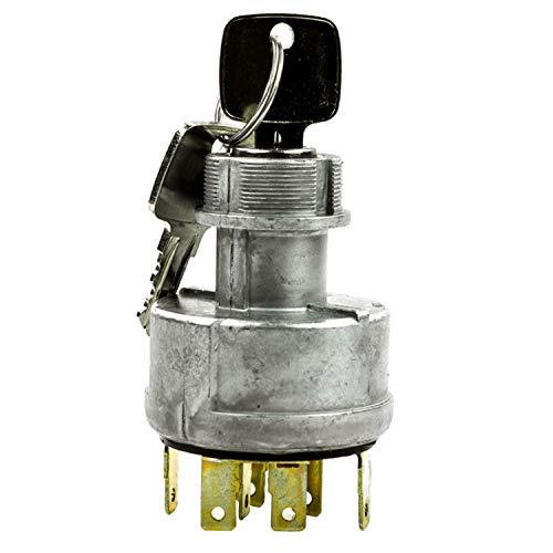 AR58126 Interruptor de encendido Interruptor giratorio con 2 llaves para John Deer e 855856920930 1550 1630 1640 1641 1840 3055 8960 8970 Tractores 690890990 Excavadoras 690890990 Retroexcavadoras