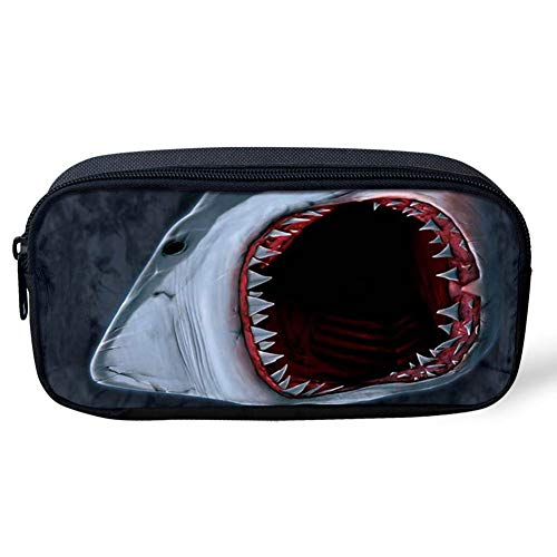Coloranimal 3D Animal Shark Pattern Pencil Case School Office Supplies Durable Students Pen Holders Organizer Stationary Pouch