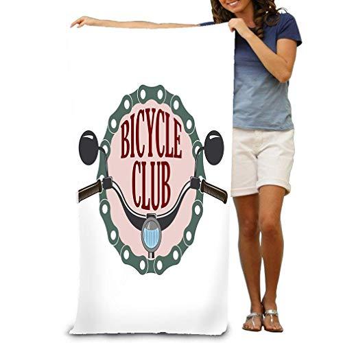 zhulaowufenbaoyouxi Unisex Strandtücher Badetücher Für Teen Girls Erwachsene Reisetuch Waschlappen 31x51 Zoll Vintage Label Bike Scooter Club Retro Style Logo b