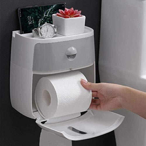 Papierhalter Toilettenpapier-Box Toilettenpapier-Spender Wandmontage Toilettenpapierhalter & Feuchttuchhalter