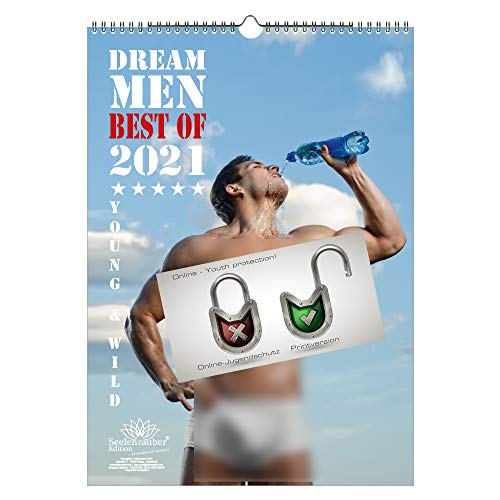 Sexy Dream Men Kalender für 2021 DIN A3 Erotik Männer Mann - Seelenzauber