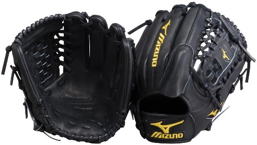 Mizuno Pro Limited GMP11BK Baseball Fielder's Mitt, Black, 12-Inch, Left Handed Throw