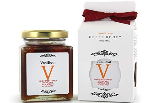 Stayia Farm Vasilissa Wildforest Miel griega orgánica | Auténtica, certificada, miel cruda, producto BIO, miel griega | bayas de Goji – 250 gramos