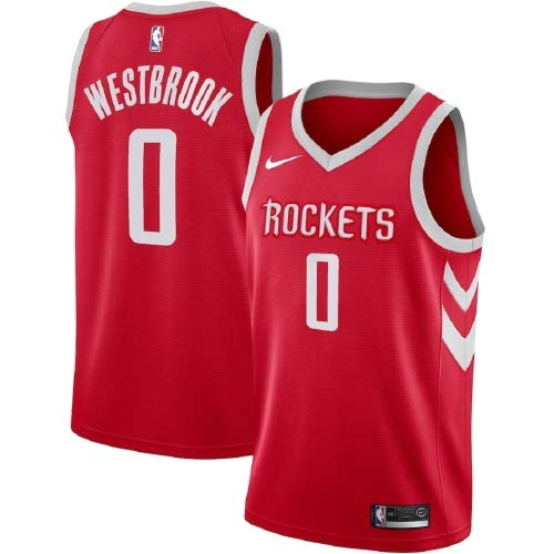 Nike NBA Boys Russell Westbrook Houston Rockets Swingman Icon Jersey, Red, Large (14-16)