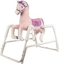 Rockin' Rider Lacey Talking Plush Spring Horse,White