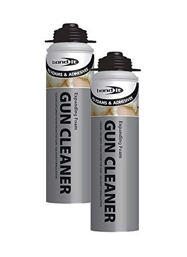 2 x Bond It 500ml Expanding PU Foam Gun Cleaner Contractors Grade Fluid Clean