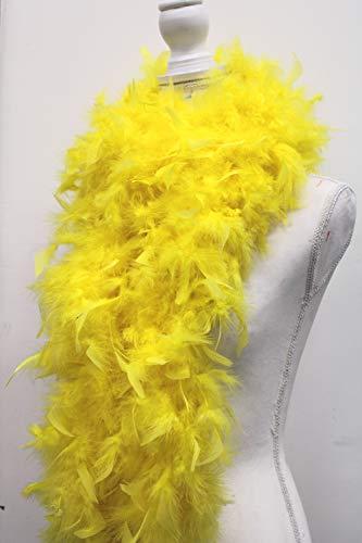 80 Gram Chandelle Feather Boa - Yellow 2 Yards