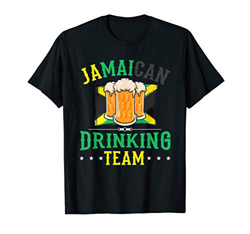 Jamaican Drinking Team Jamaica Flag Gift for Beer Drinkers T-Shirt