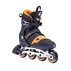 K2 Inline Skates F.I.T. 80 ALU Für Herren Mit K2 Softboot, Black - Orange, 30E0260