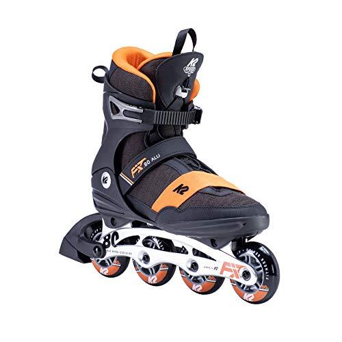 K2 Skates Herren F.I.T. 80 ALU Inline Skates, black-orange, 41.5 EU (7.5 UK)