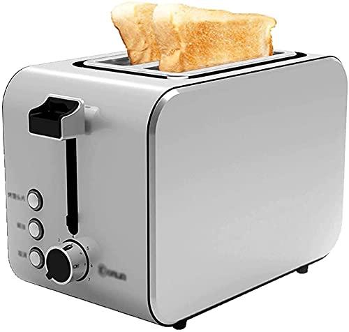 WHMWPB Toasters, 2 tostadora de rebanadas, material de acero inoxidable, descongelación / recalentamiento / cancelación, bandeja de miga extraíble, 7 configuraciones de dorado