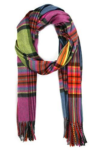 Collezione alessandro Multi sjaal Fibi in levendige kleuren 190cm x 71cm