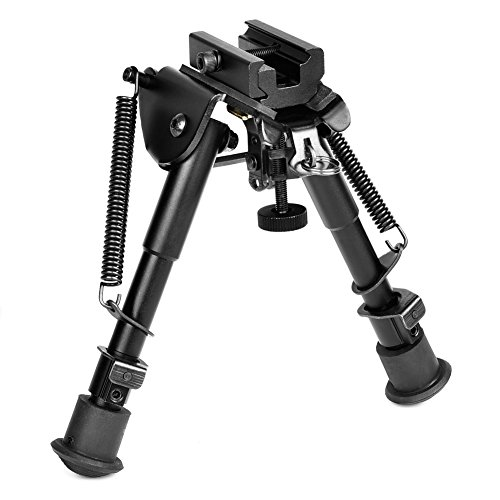 MidTen Bipod 6-9 Inches Adjustable Foldable Legs with Adapter for 20mm Rail