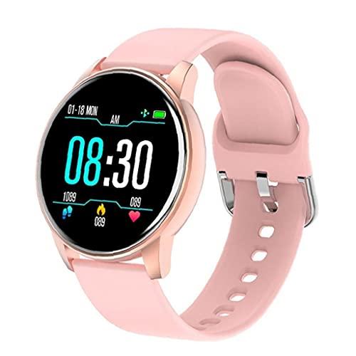 Pulsera inteligente, reloj inteligente Pantalla táctil Actividad de aptitud Pedómetro Pulsera de frecuencia cardíaca dinámica Rosa