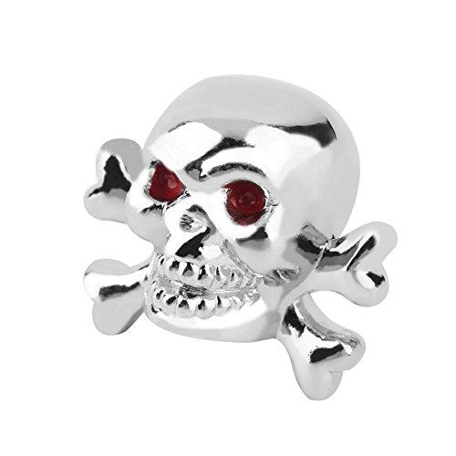SB3 Skullz and Bones Bouchon de Valve Mixte Adulte, Argent