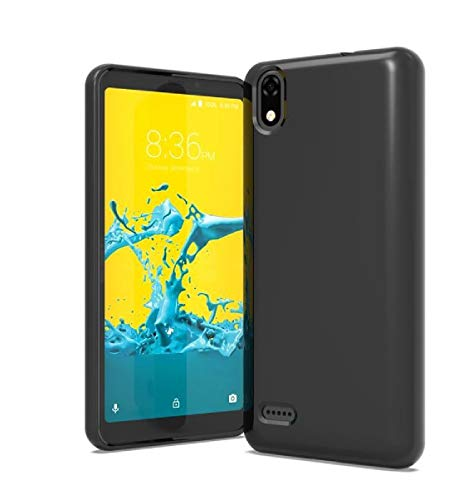 TPU Flexible Skin Protective Case Phone Cover for ZTE Avid 559 + Gift Stand (Black)