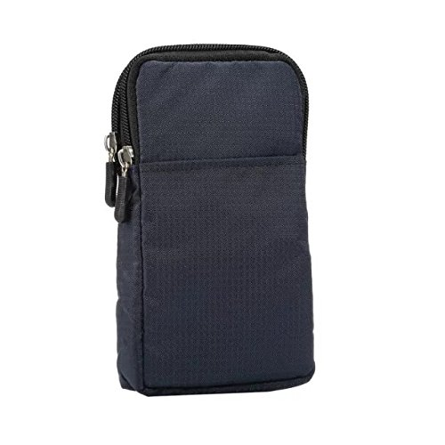 PT Universal Multipurpose Case Pouch Nylon Sporty Smartphone Holster Belt Clip Waist Bag for iPhone 11 pro Max X XR XS MAX 8 7 6 Plus Samsung Galaxy S8 S9 Plus S7 Edge Note 8,9 (Navyblue)
