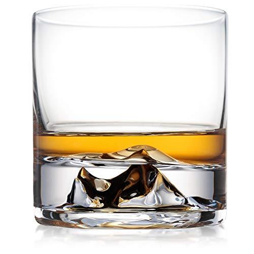 Everest Whiskey Gläser 2er Set Premium Bourbon Gläser Rocks Gläser Scotch Gläser Einzigartige Whisky Tumbler Luxus Bourbon Geschenk für Ihn
