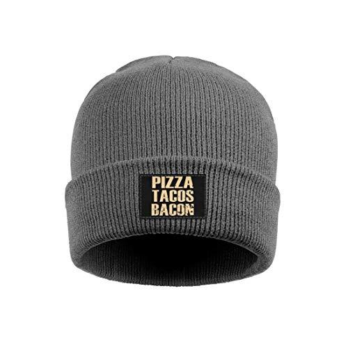 WJINX Pizza-Tacos-Bacon Winter Beanies Hat Warm Skull Cap for Men Women