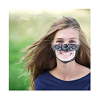 Filters Reusable Anti Dust Unisex Mouth Face Filter, with Clear Window Visible Expression for The Deaf and Hard of Hearing (a)
